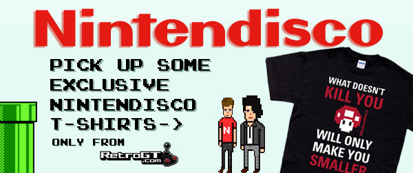 Pick up some exclusive Nintendisco t-shirts, only from RetroGT.com