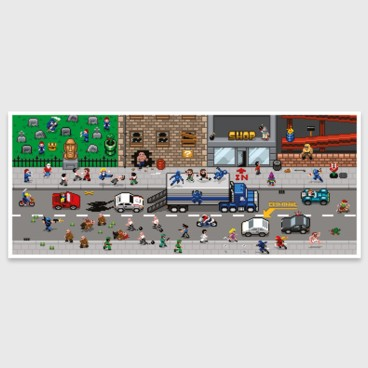 Photograph: Pixel art print: Retro Road