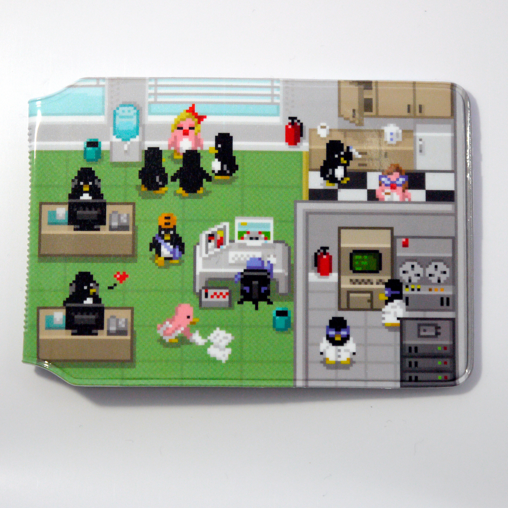 Pixel Penguin Office Card holder