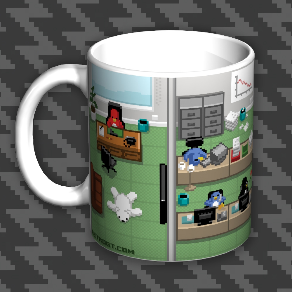 Pixel Penguin Office Mug