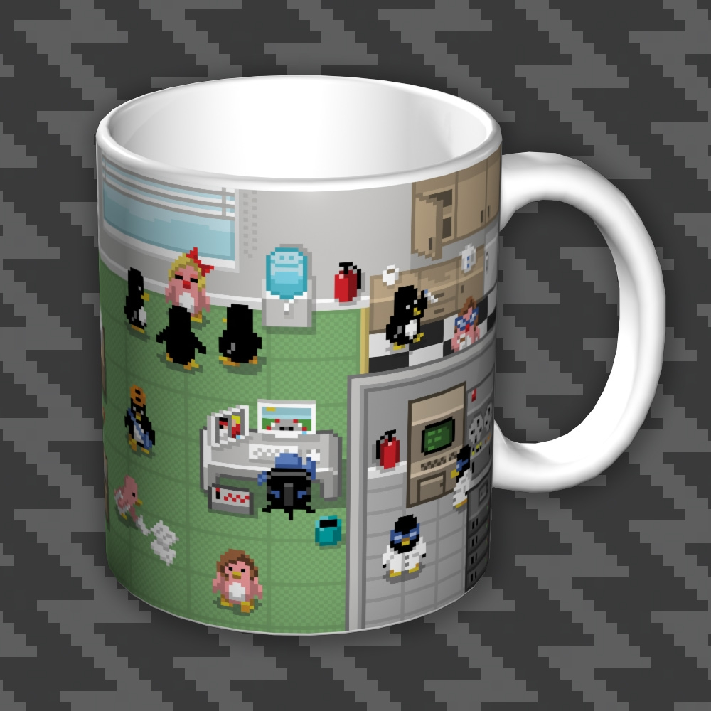 Alternative photo: Pixel Penguin Office Mug