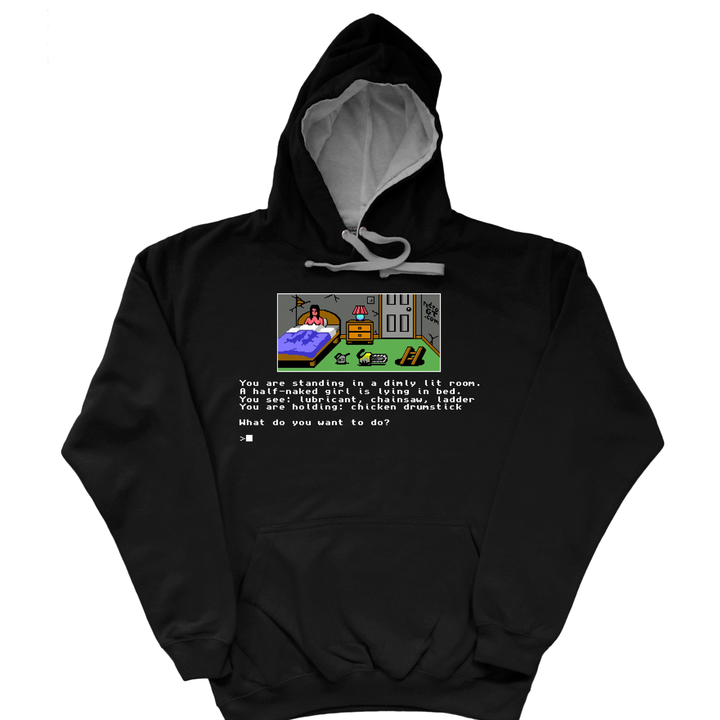 Alternative photo: Text Adventure Hoodie