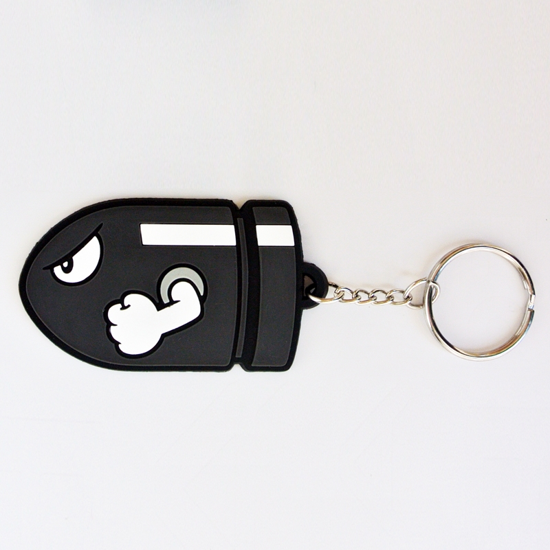 Bullet Bill Key Ring