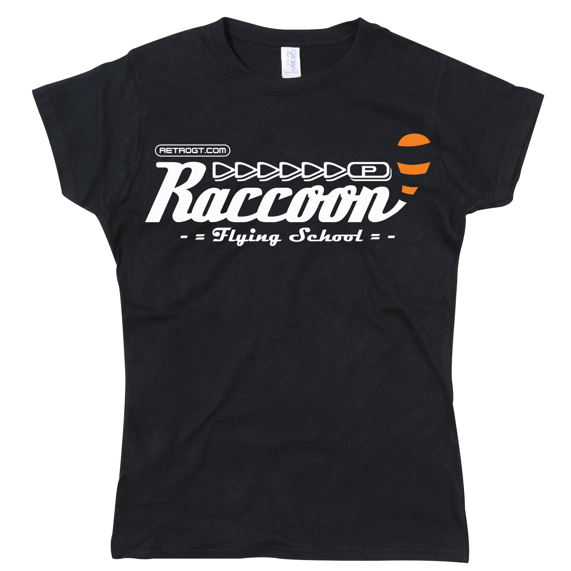 Raccoon Flying School Girls T-Shirt