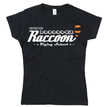 Photograph: Raccoon Flying School Girls T-Shirt