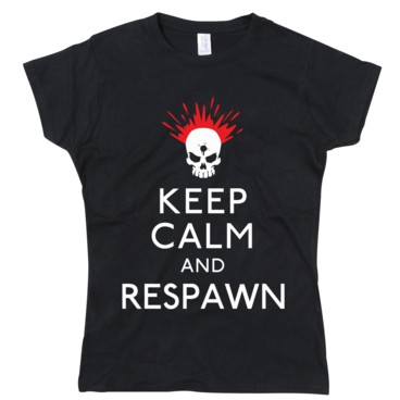 Photograph: Keep Calm & Respawn Girls T-Shirt