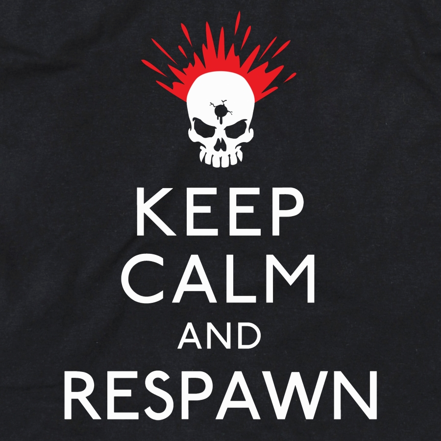 Keep Calm & Respawn Girls T-Shirt