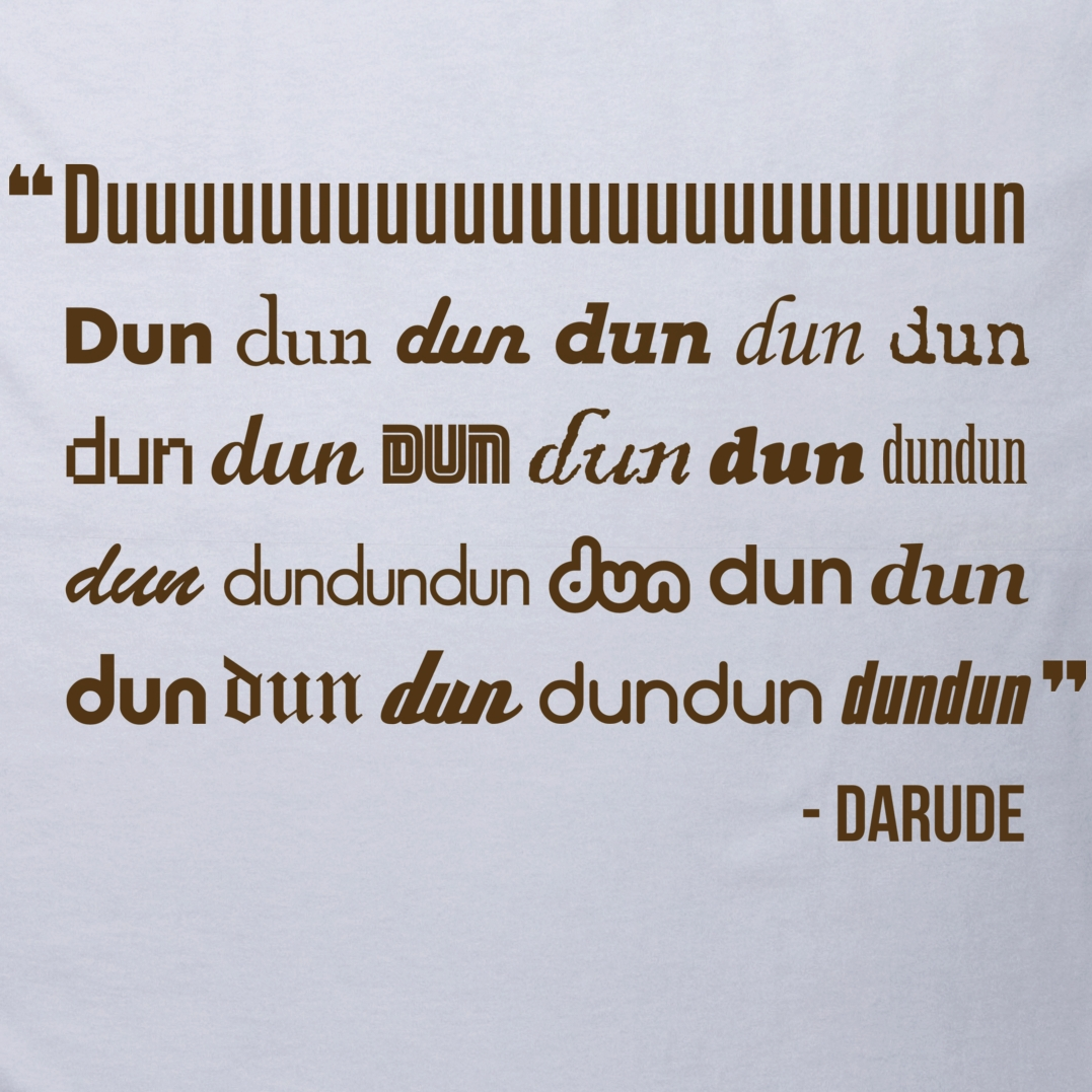 Alternative photo: Darude - Sandstorm Lyrics T-Shirt