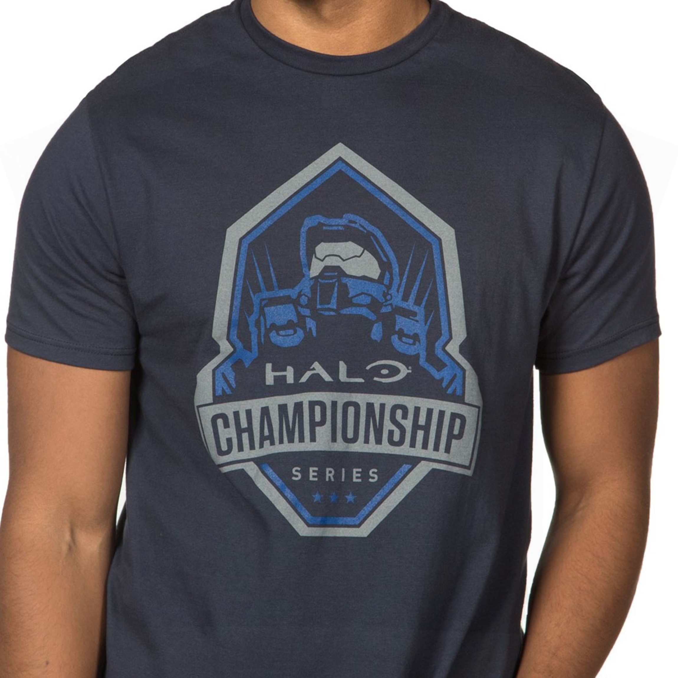 Alternative photo: Halo Championship Series Blue Team T-shirt