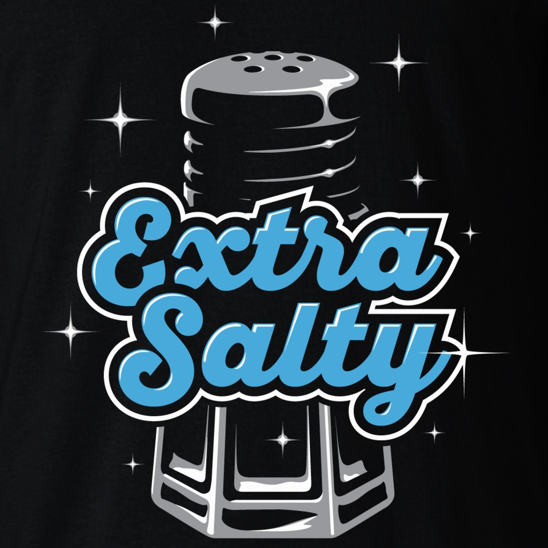 Alternative photo: Extra Salty Black T-Shirt