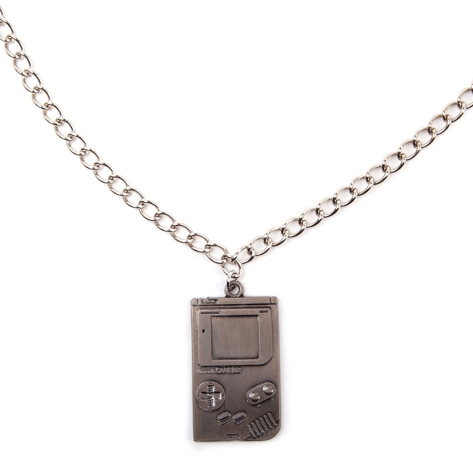 Alternative photo: Game Boy Metal Necklace