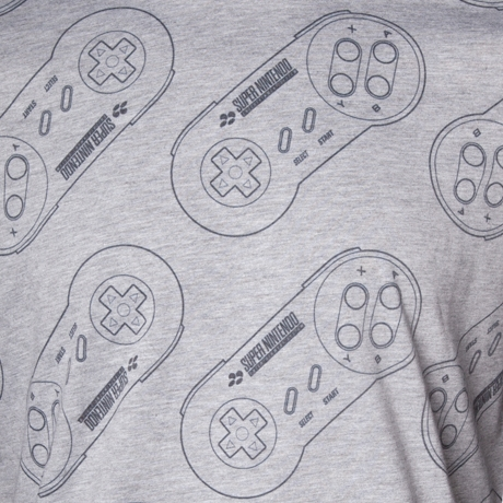 Alternative photo: SNES Controller Pattern T-Shirt