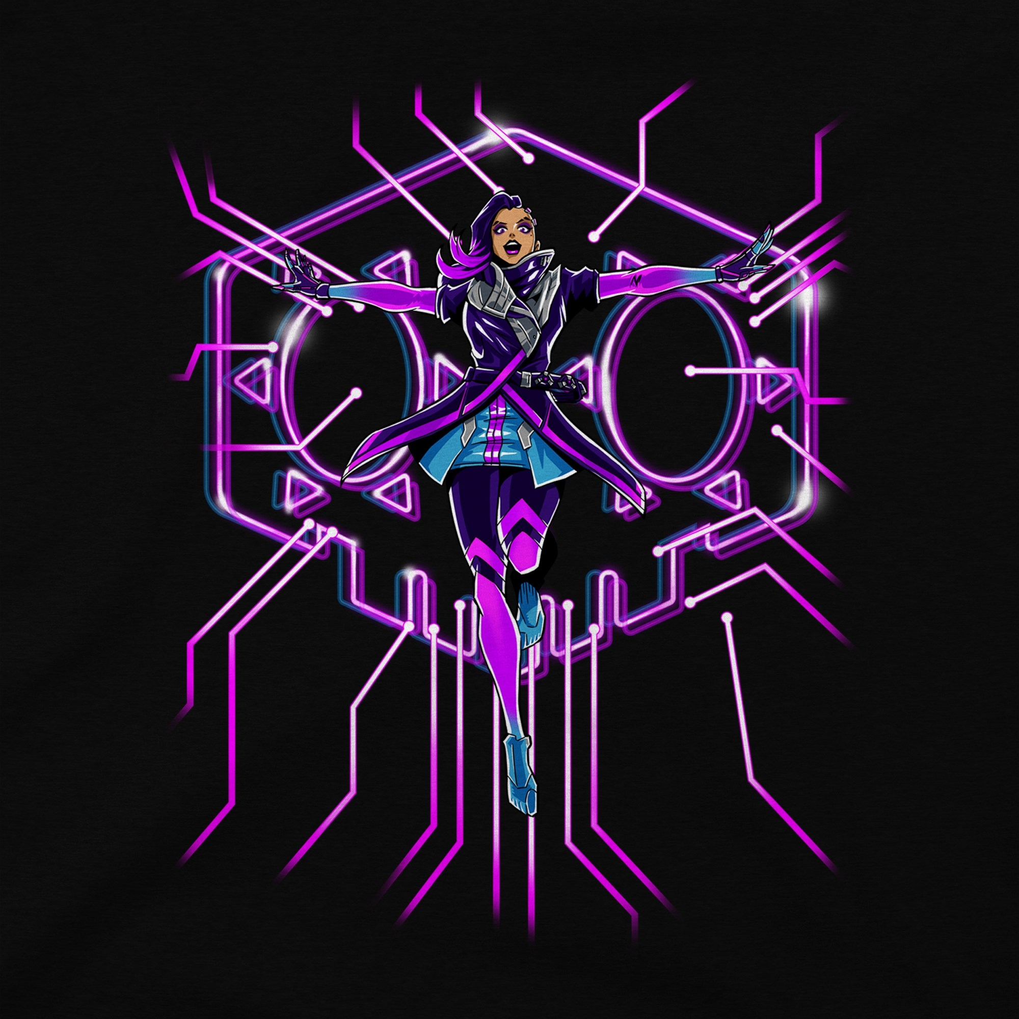 Alternative photo: Overwatch Sombra T-Shirt