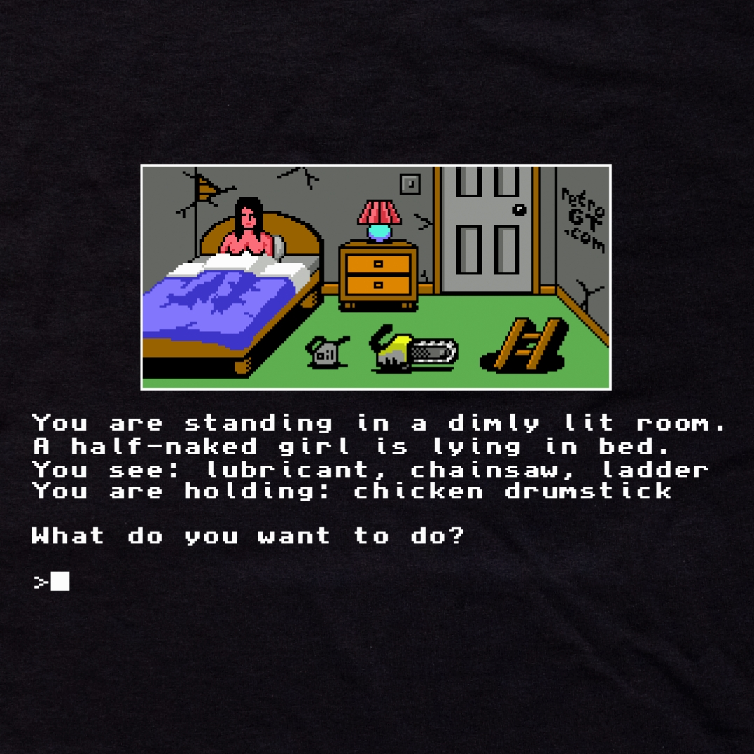 Alternative photo: Text Adventure T-Shirt