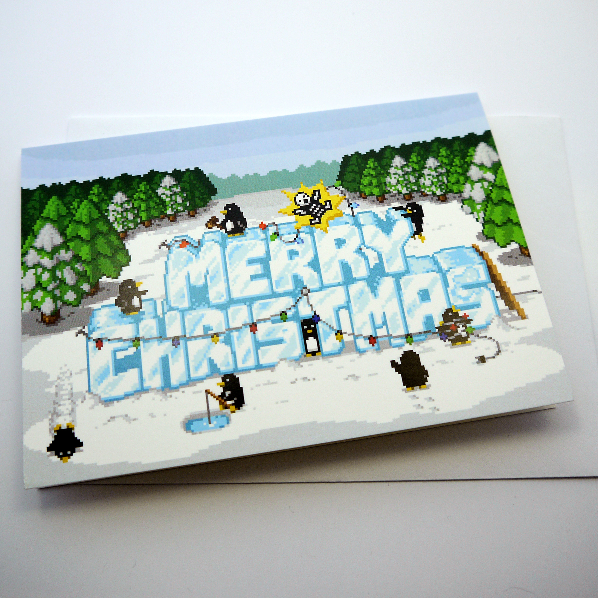 Xmas Penguins Christmas Card