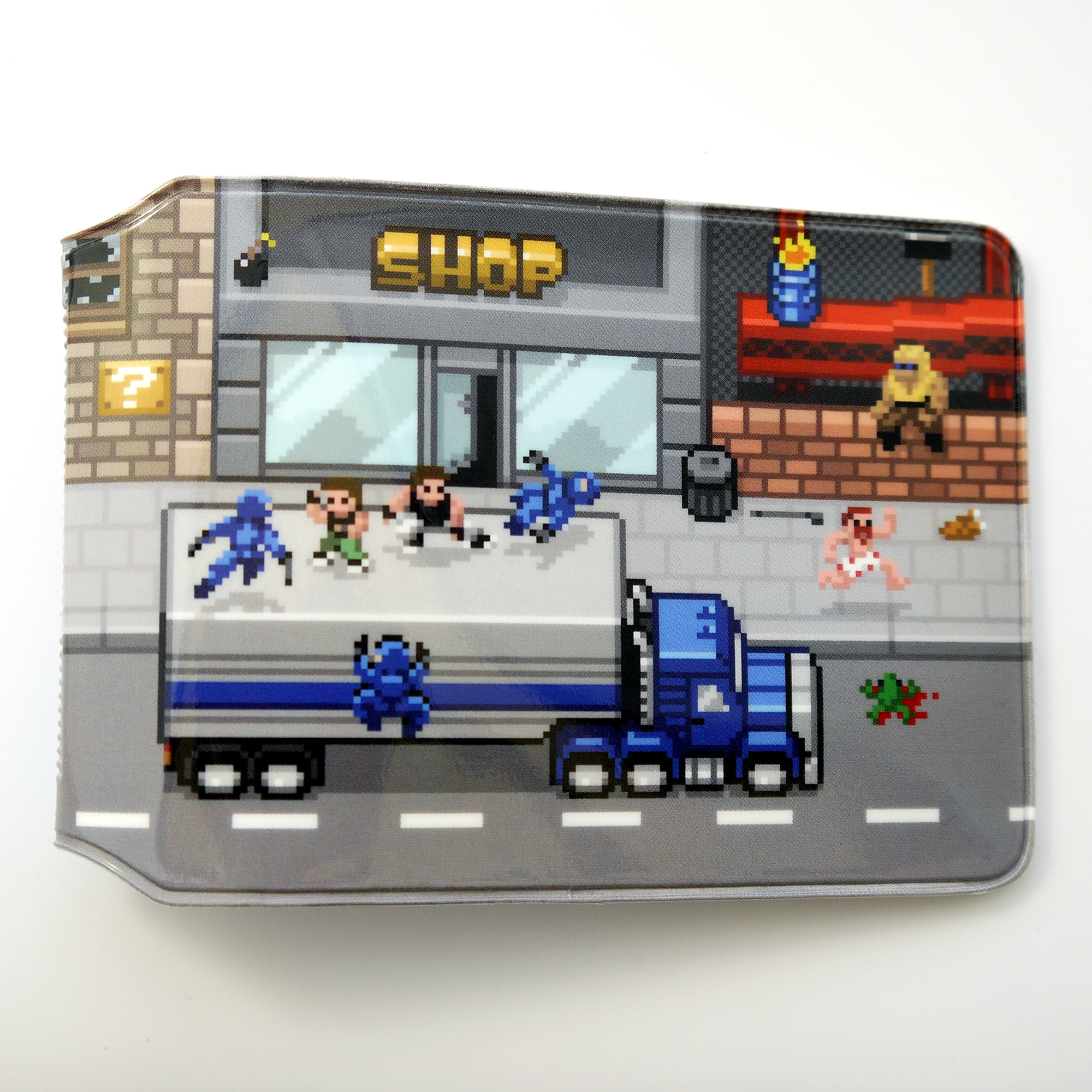 Retro Road Travel Card Holder