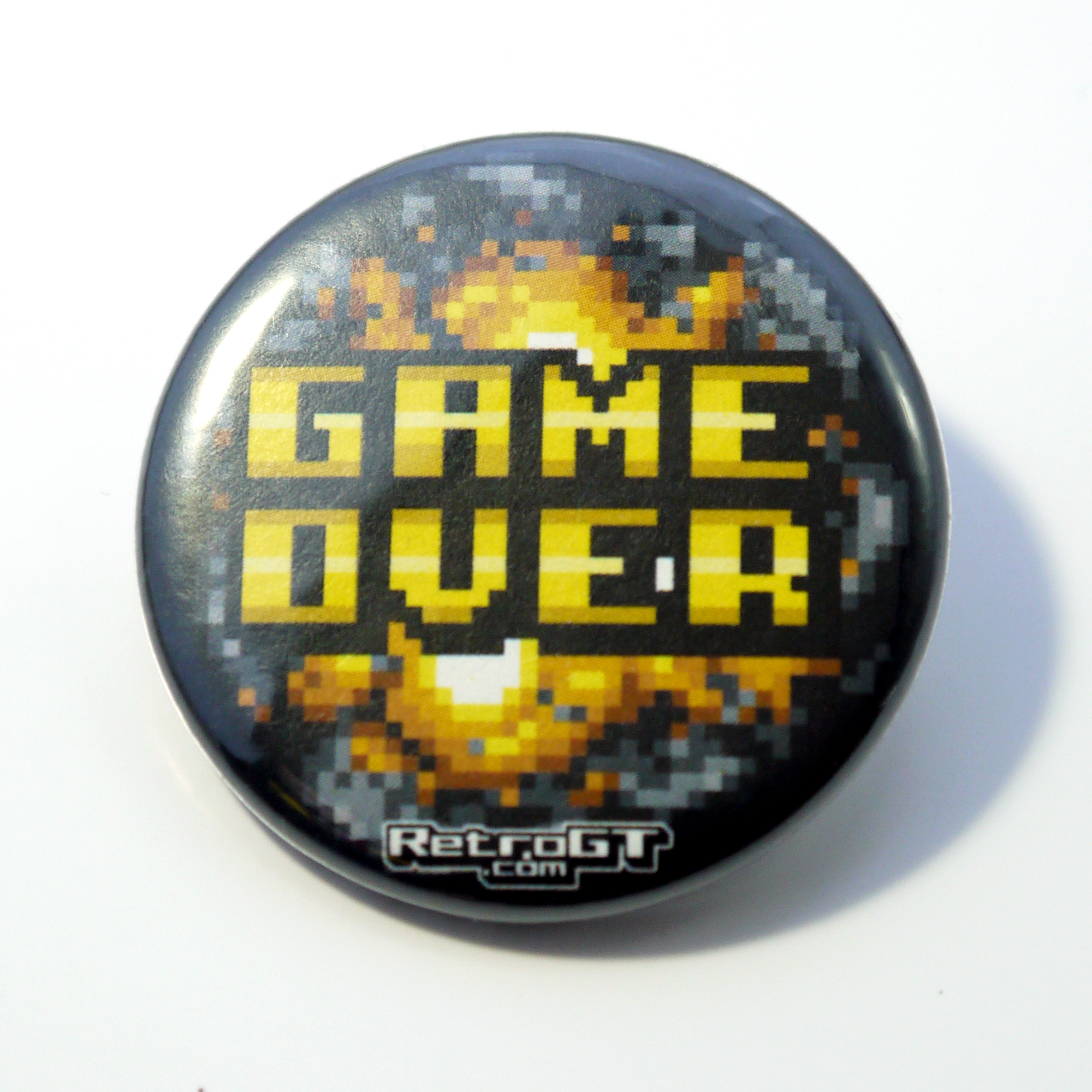 Game Over Pin Badge 38mm