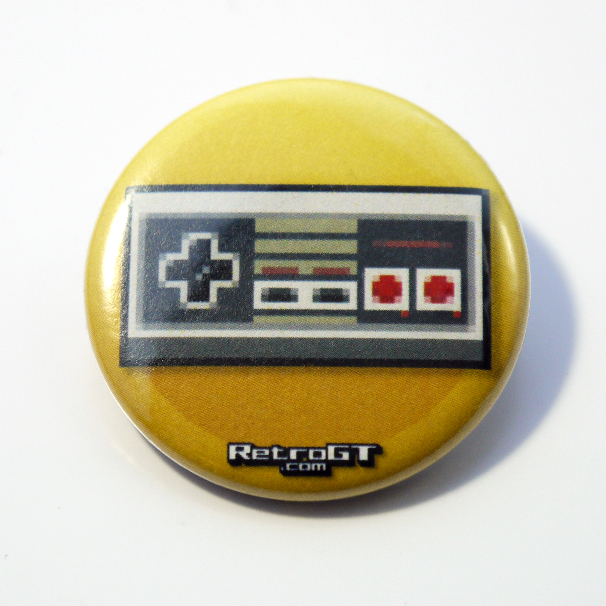 Photograph: Pixel Controller Pin Badge 38mm