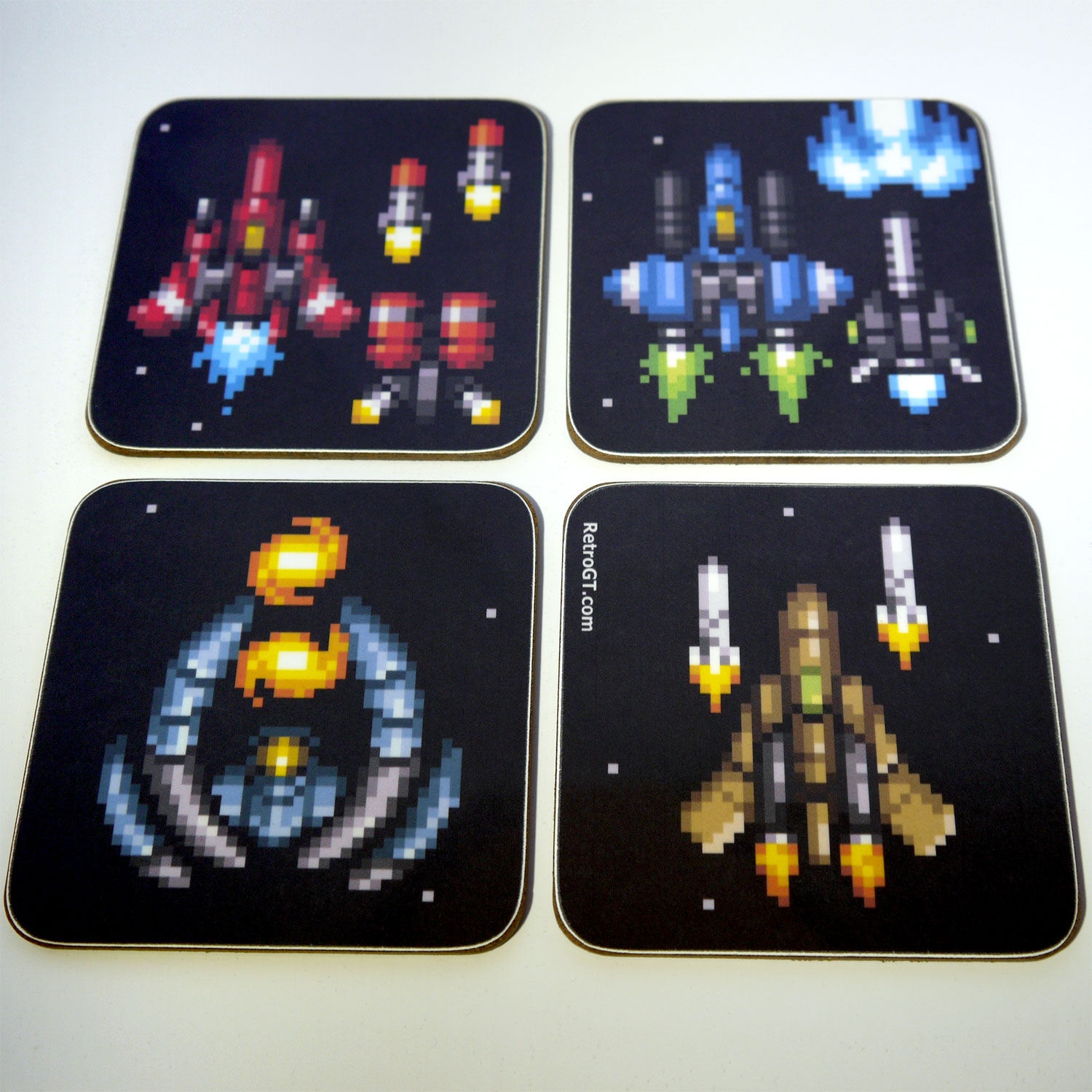 Hyper V-Battle Pixel Coaster Set