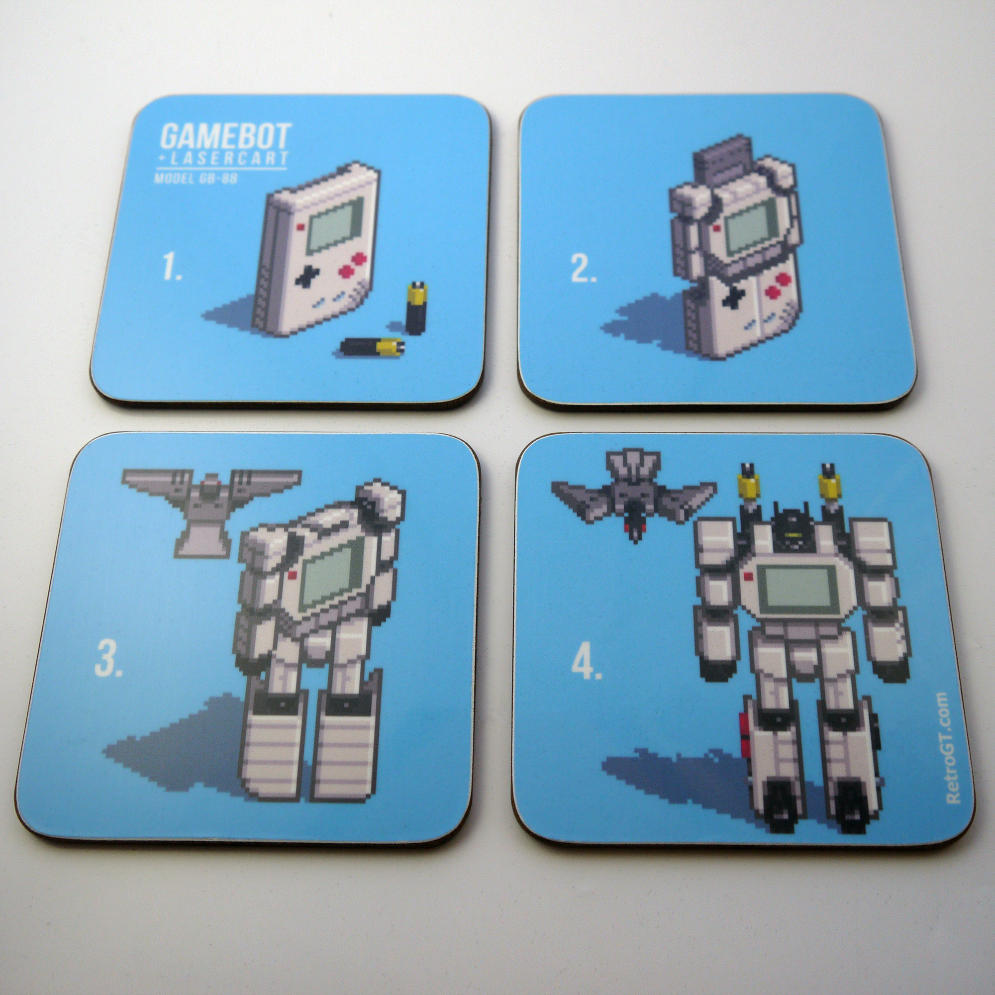 Alternative photo: Gamebot Pixel Coaster Set