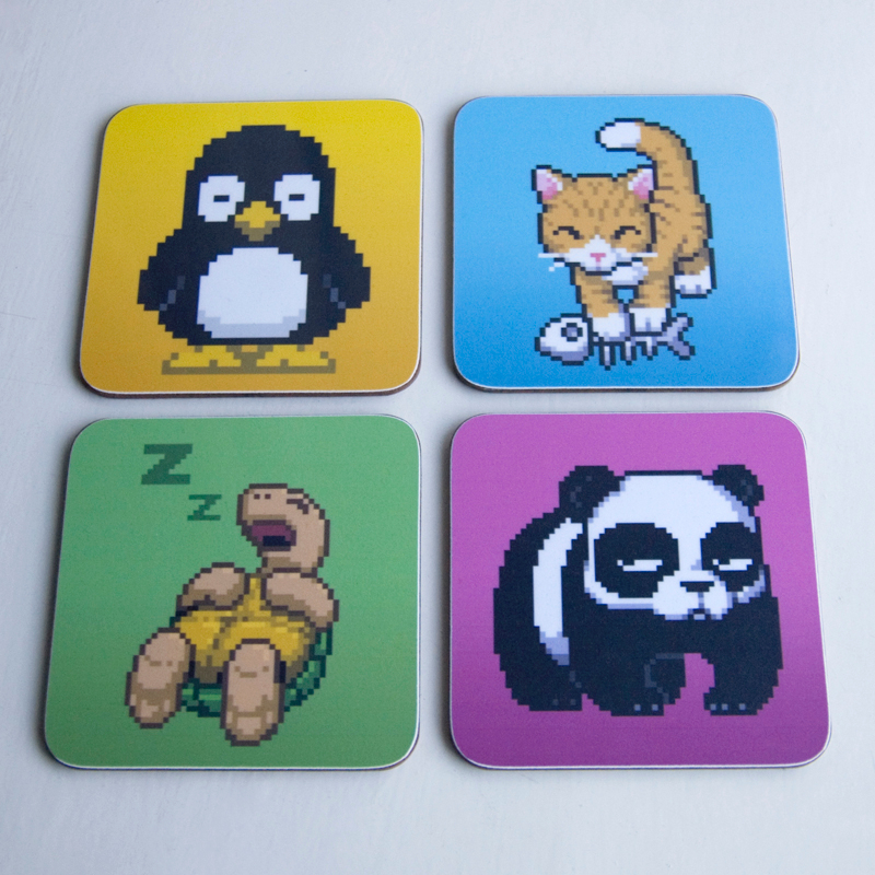 Pixel Pets Coaster Set