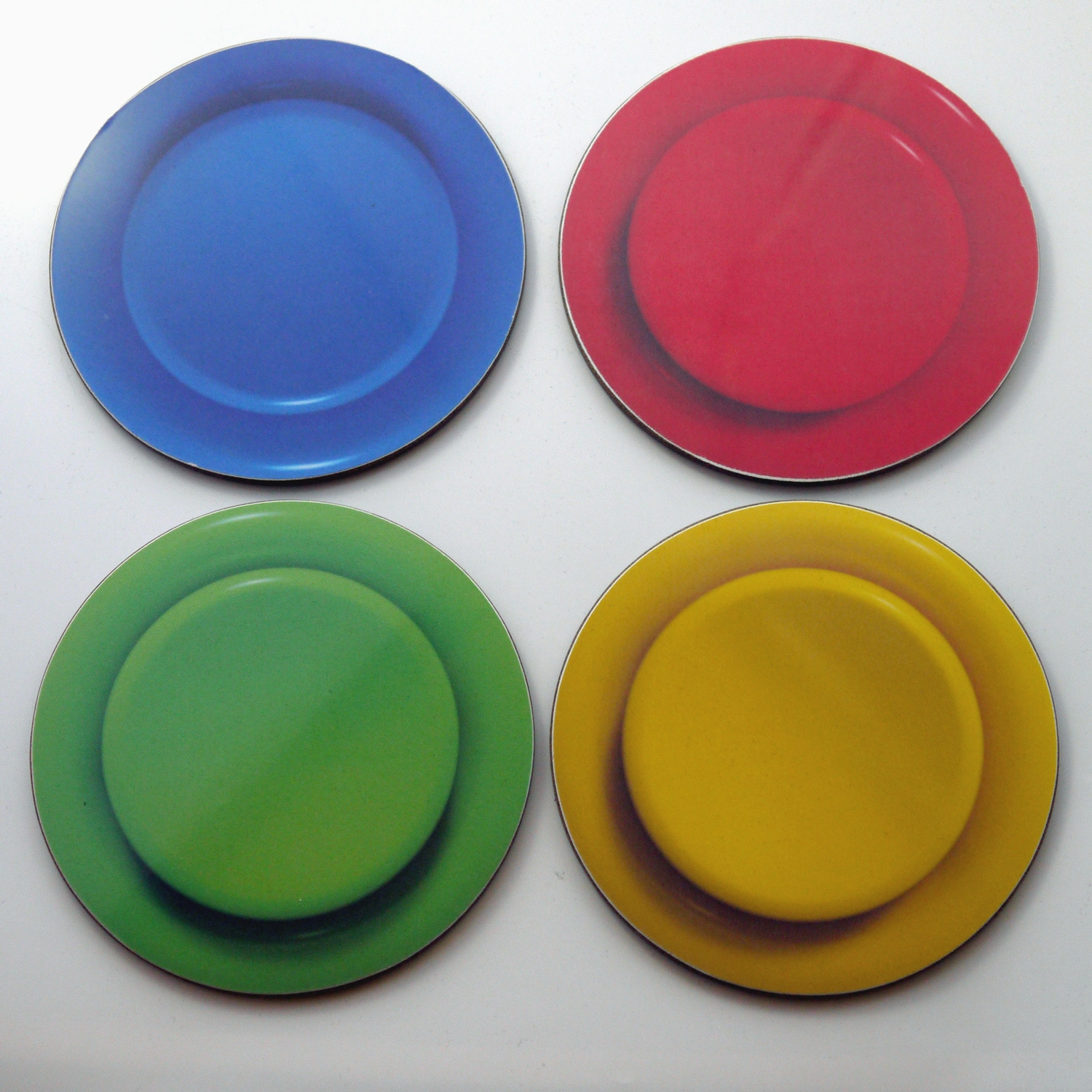 Arcade Button Coaster Set