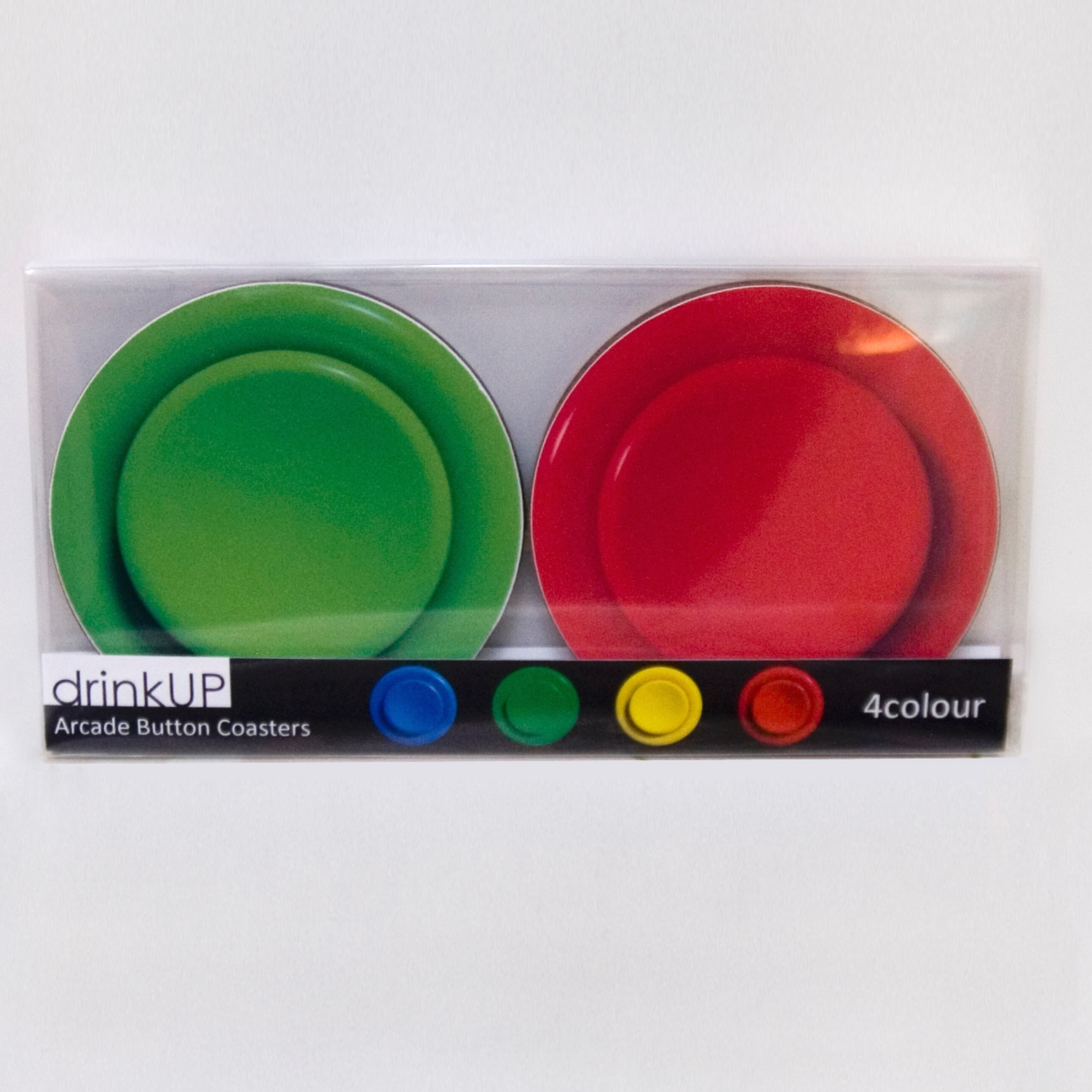 Alternative photo: Arcade Button Coaster Set