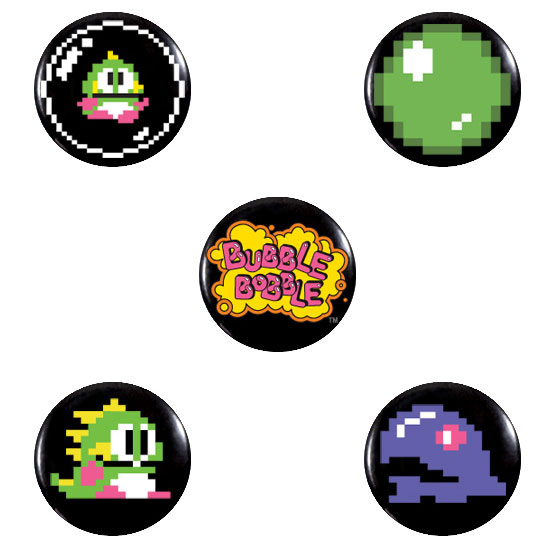 Photograph: Bubble Bobble Badge Pack 1