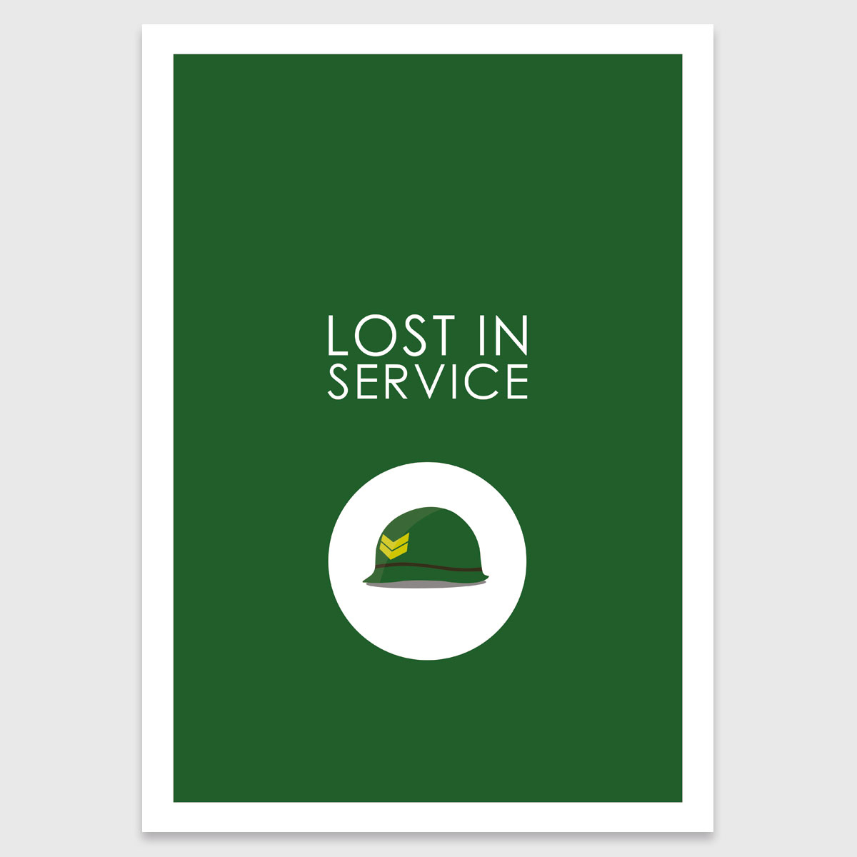 Photograph: Retro print: Lost in service