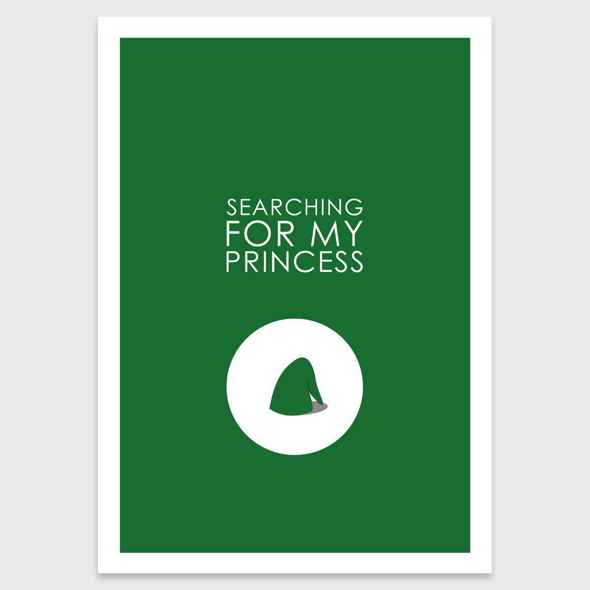 Retro print: Searching for my princess (Z)