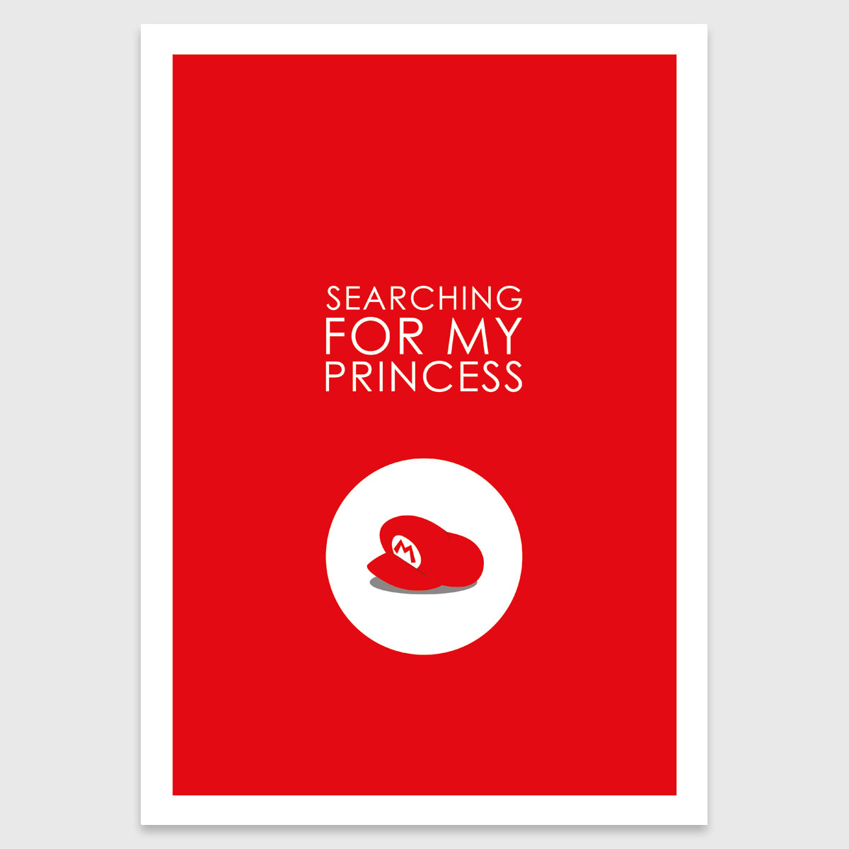 Photograph: Retro print: Searching for my princess (M)