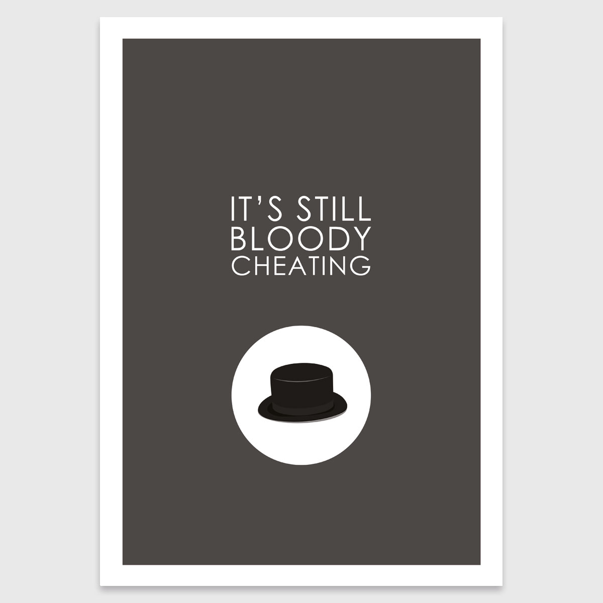 Retro print: It's still bloody cheating