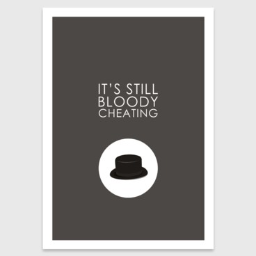 Photograph: Retro print: It's still bloody cheating