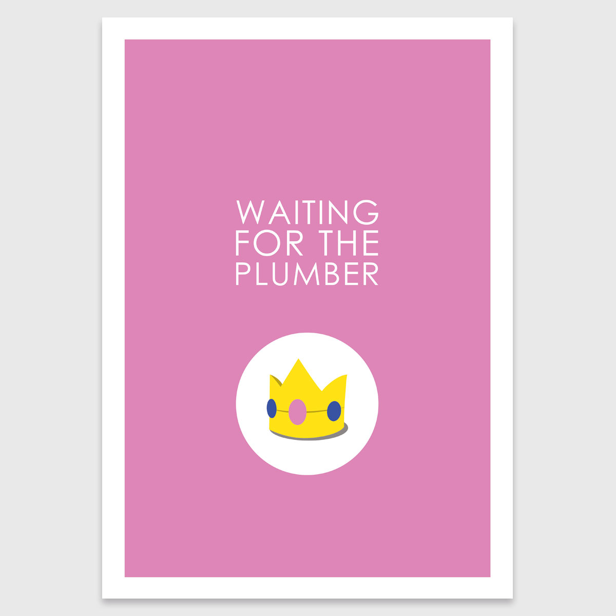 Retro print: Waiting for the plumber