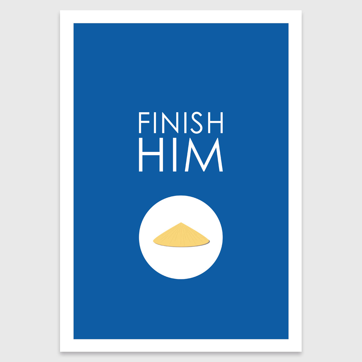 Alternative photo: Retro print: Finish Him