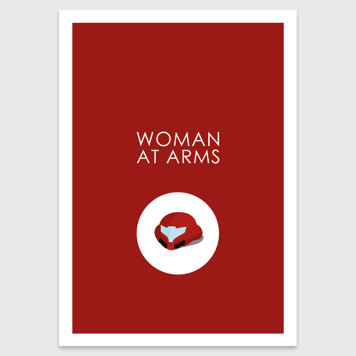 Retro print: Woman at arms